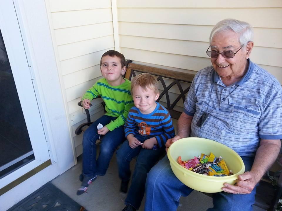 Papu and boys Halloween 2014