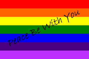 Peace Be With You rainbow
